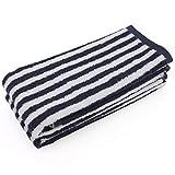 Fanyong Tragbare Baumwolle Unisex Waschlappen hoch saugfähiger Platz Striped weiches Handtuch