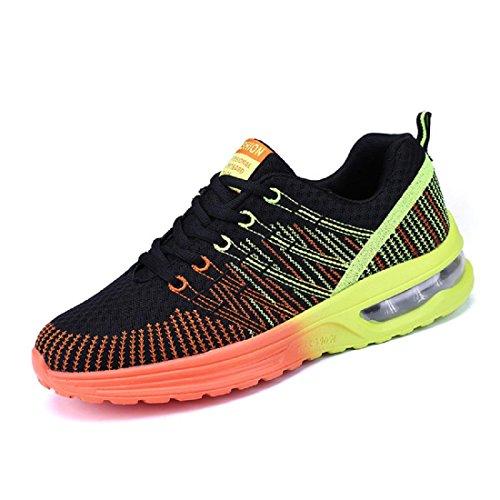 Uomo Moda Scarpe sportive traspirante Scarpe da corsa Scarpe casual formatori Aumenta le scarpe euro DIMENSIONE 39-44 Orange