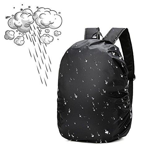 Aolvo antipioggia copertura 35L zaino Zaino parapioggia zaino copertura della pioggia zaino antipolvere impermeabile Coverfor trekking, campeggio, ciclismo, viaggi, nero