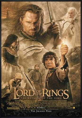 Close Up Herr der Ringe Poster Return of The King (101x71 cm) gerahmt in: Rahmen schwarz - Poster Gerahmte Ringe Der Herr