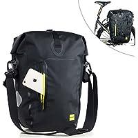 Selighting Gepäckträgertasche Wasserdichte Fahrradtasche Hinterradtasche Gepäckträger Tasche Schwarz 25L
