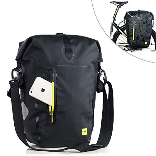 Selighting Gepäckträgertasche, Wasserdichte Fahrradtasche Hinterradtasche Gepäckträger Tasche Schwarz 25L (Grün)