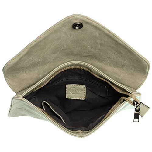 CASPAR Taschen & Accessoires, Poschette giorno donna grigio pietra