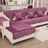 QY&LA Winter-Solid Farbe sofakissen, Moderne Plüsch Anti-Rutsch Sofabezug Handtuch, Jedes Teil Verkauft Separat-Lila 110x160cm(43x63inch)