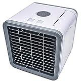3 in 1 Mini Luftkühler, Tragbare Klimaanlage mit USB Anschluß 3 Kühlstufen und 7 Stimmungslichter für Familie Büro Schlafzimmer Camping Reisen