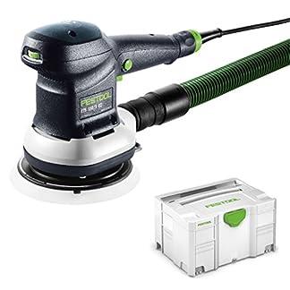 Festool ETS150/3EQ-Plus – Lijadora excéntrica (310 W) 575022, negro/verde.