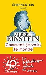 Comment Je Vois le Monde de Einstein Albert
