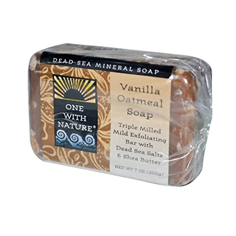One with Nature Soaps Almond Bar Soap, Vanilla Oatmeal, 7 Oz (Blockseifen)