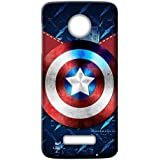 Mott2 Back Case For Motorola Moto Z2 Play | Motorola Moto Z2 PlayBack Cover | Motorola Moto Z2 Play Back Case - Printed Designer Hard Plastic Case - Captain America Theme - B075HFN98M