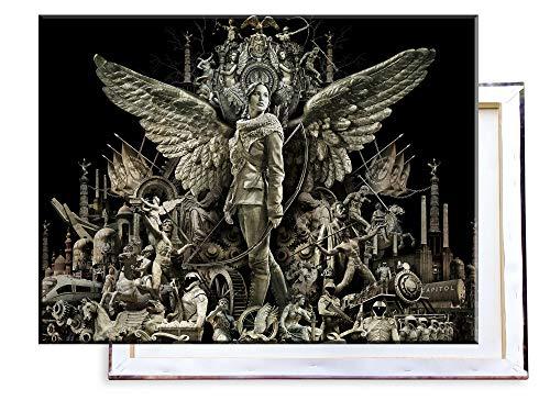 The Hunger Games Catching Fire - 80x60 cm - Bilder & Kunstdrucke fertig auf Leinwand aufgespannt und in erstklassiger Druckqualität ()