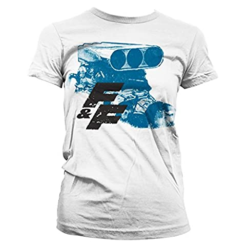 Fast & Furious Engine Official Women T-Shirt (White), XX-Large