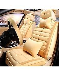 AMYMGLL Autozubehör Vollsitzkissenbezug Standard Edition (8sets) und Deluxe Edition (13sets) Auto-Universal Cotton 3 Staffel 4 Farben wählen