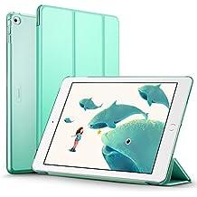 ESR Funda iPad Air 2 con Auto-Desbloquear y Función de Soporte [Ligera] de Cuero Sintético y Plástico Duro Transparente Esmerilado Cover Cáscara para Apple iPad Air 2 -Menta