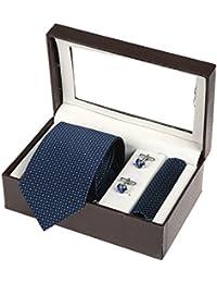 Sir Michele Designer Micro Fiber Tie Hanky Cufflink Set