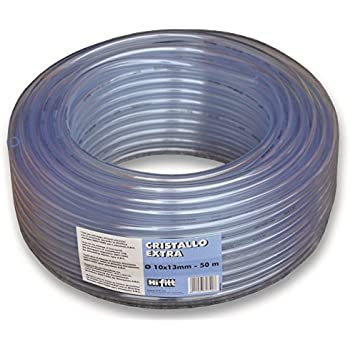 PVC Rigid Round Tubing,Clear,12mm ID x 13mm OD,0.5M//1.64Ft Length,2pcs