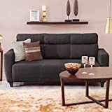 Home Centre Emily Fabric Sofa- 3 Seater Brown