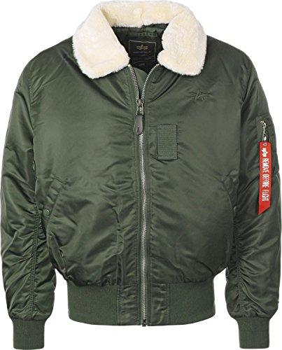 Alpha Industries Herren Bomberjacke B15 grün XL