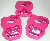 1a TUPPER Förmchen Spaß mit HELLO KITTY AUSSTECHER 3 Formen --- pink