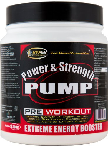 Hyper Pre Workout Integratore Energetico Power & Strength Pump - 500 g