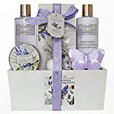 Gloss! Les Belles Fleurs - Cesta de baño, lavanda, 6 piezas