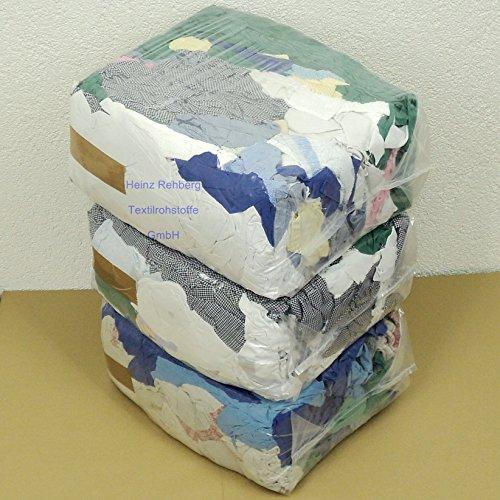 Rehberg´s 30 kg Putzlappen geschnitten aus gewebten bunten Baumwollstoffen Standard-Putzlappen Putztücher -
