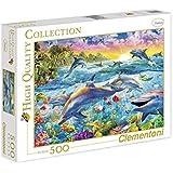Clementoni - Puzzle de 500 piezas, High Quality, diseño Tropical Dolphin (301706)