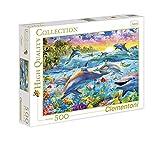 Clementoni 30170.6 - Puzzle Dauphins tropicaux - 500 Pièces