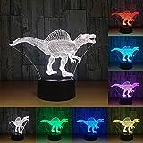 Best Gifts & Decor Glass Desks - Creative Dinosaur 3D Visual Illusion Led Lamp Acrylic Review
