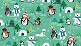 Weihnachten Stoff–0,5m–Pinguine Füchse