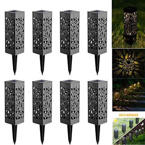 Solarleuchte Garten LED Solarlampe Gartenleuchte für draußen,LED Solar Laterne Wasserdicht IP44,Decorative Solarlamp für Außen Garten Rasen Patio Hof -