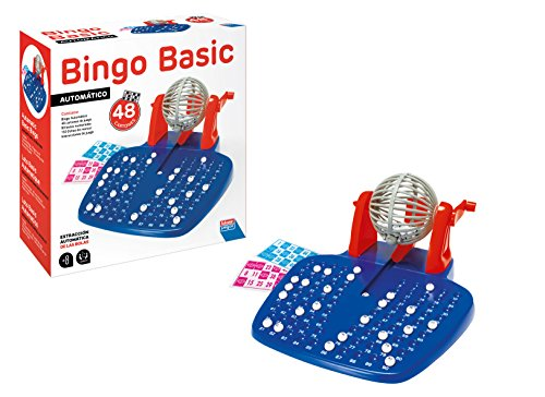 Falomir- Bingo automático Mesa. Juego Clásico, 28 x 29 x 11 cm...