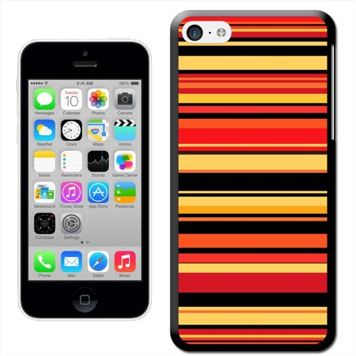 Fancy A Snuggle 'Moderne Streifen Pastell Grün' Hard Case Clip On Back Cover für Apple iPhone 5C Modern Stripes Orange Yellow