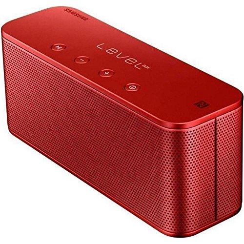 Samsung Level Box Mini Wireless Bluetooth NFC Lautsprecher Kompatibel mit iPhone, iPad, iPod, Smartphone, Tablet und MP3 Player, rot