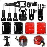 Fantaseal® 12-in-1 Action Camera Helmet Side Mount Kit Adhesive Mount Accessories for Sony Helmet Mount Combo Set for SONY FDR X-3000V X1000VR HDR AS 300 AS-10 AS-15 AS-20 AS-30 AS-50 AS-100 AS-200 AZ-1 Helmet Mount Kits Accessories Combo Set