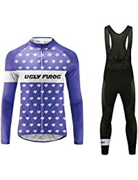 Uglyfrog 2016 Manga larga Maillot+Bib Pantalones cortos Bodies Ciclismo De Hombre Autumn with Fleece Style Ropa De triatlon Transpirables Cycling Sets HDZ22