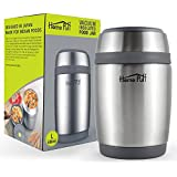 Home Puff Vacuum Insulated Stainless Steel Food Jar, 480 Ml, Grey