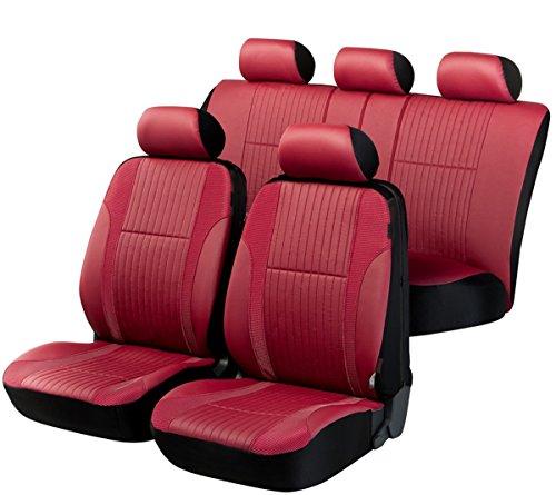 Preisvergleich Produktbild Timon 66595, Sitzbezug Schonbezug Autositzbezug, Kunstleder, Komplett Set, Rot