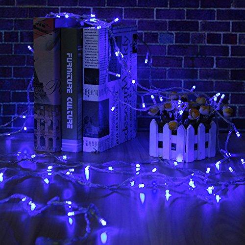 Weihnachten Lichterkette,FeiliandaJJ 10M 100pc Festival Dekorative Schnur LED Licht Hochzeit Party Halloween Xmas Innen/Außen Haus Deko String Lights (Blau)