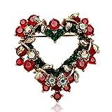 Morza Frauen Kristallherz Blumen Broschen Weibliche Strass Schal Clip Weihnachtsfeier Kleid Blumenstrauß Brosche