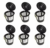 PAAITER 6Pcs Solo Coffee Pod Filters Compatible with Keurig K cup coffee system-Reusable Coffee Filter