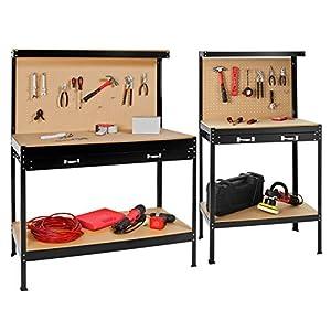 Take Banco de trabajoMesa de trabajo para taller bricolaje pared herramientas cajón – varias tamaños (Typ 1 | 120x60x156 cm | 400855)