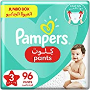 Pampers Pants, Size 3, Midi, 6-11 kg, Jumbo Box, 96 Diapers