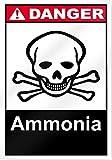 Ammoniak Gefahr Schild 25,4cm breit x 35,6cm hoch