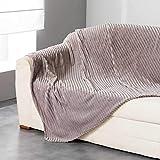 Douceur d 'Intérieur Plaid, Polyester, taupe, 150x 125cm