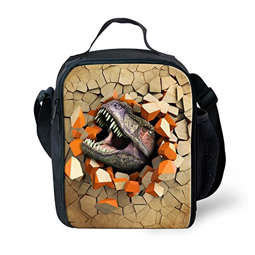 Showudesigns Cool stampato Animal Dinosaur lunch Bags Keep Warm picnic Bags, Poliestere, color 5, small color 6