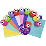 #2: AsianHobbyCrafts Craft Paper Punch : Pack of 10pcs : FREE 10 Origami paper sheets 4x4