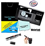 Motorized VHS-C Cassette Adapter For JVC C-P7U CP6BKU C-P6U Panasonic PV-P1 RCA VCA115 + LensPen Lens Cleaner + 1 VCC113 Micro-Fiber ClothTM