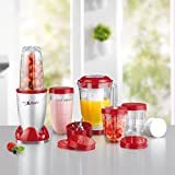 Gourmet Maxx Mixer Mr. Magic Deluxe Set 18 Teilig 400W, BPA Frei, Smoothiemaker mit Edelstahlklingen (Neue Version 2017)