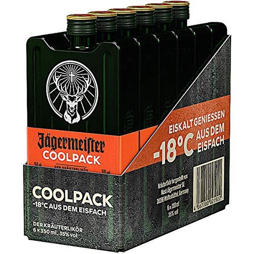 6 Jägermeister Coolpack PET a 350ml 35% Vol. Kräuterlikör