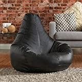Aart Store Leather Classic Bean Bag Filled with Beans -XXXL Size - Black Color